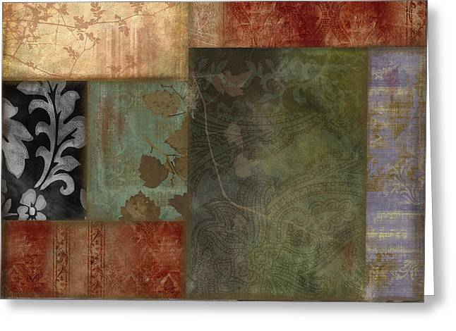 Damask Greeting Cards - Collette Greeting Card by Mindy Sommers