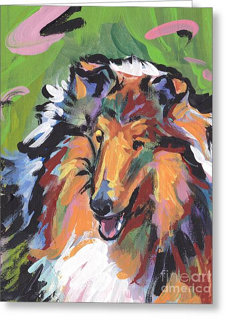 Rough Paintings Greeting Cards - Collie Folly Greeting Card by Lea