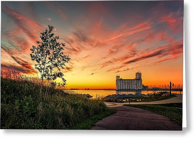 Collimgwood Terminal Greeting Card by Jeff S PhotoArt