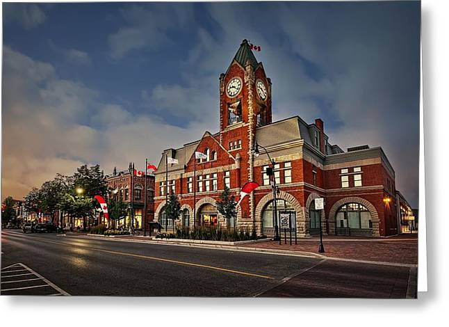 Collingwood Townhall Greeting Card by Jeff S PhotoArt