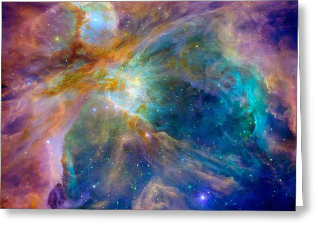 Astronomers Greeting Cards - Collision of Color Greeting Card by Jon Neidert