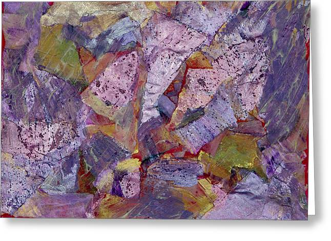 Unexpected Quality Greeting Cards - Collision Painting Greeting Card by Don  Wright
