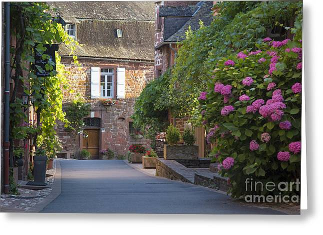 Historic Home Greeting Cards - Collonges-la-Rouge Street II Greeting Card by Brian Jannsen