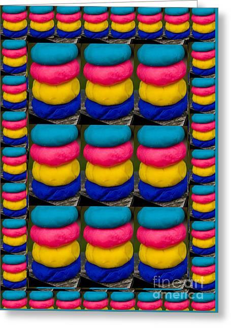 Stack Mixed Media Greeting Cards - Coloful wave stacks patterns textures Shades n Tones  art by NavinJoshi at FineArtAmerica buy POD Greeting Card by Navin Joshi
