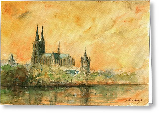 Cologne Greeting Cards - Cologne cathedral Greeting Card by Juan  Bosco