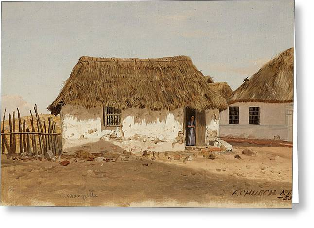 Colombia Barranquilla Two Houses  Greeting Card by Frederic Edwin Church