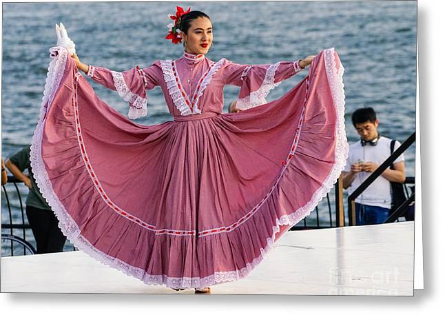Fancy-dancer Digital Greeting Cards - Colombian Dancer 1 Greeting Card by Jerry Fornarotto