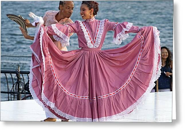 Fancy-dancer Digital Greeting Cards - Colombian Dancers 2 Greeting Card by Jerry Fornarotto