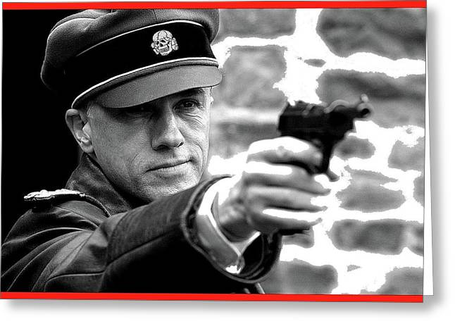 Colonel Hans Landa  Christoph Waltz Publicity Photo  Inglourious Basterds 2009 Greeting Card by David Lee Guss