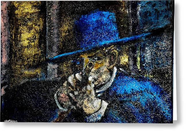 Spaghetti Mixed Media Greeting Cards - Colonel Mortimers Shot Greeting Card by Seth Weaver