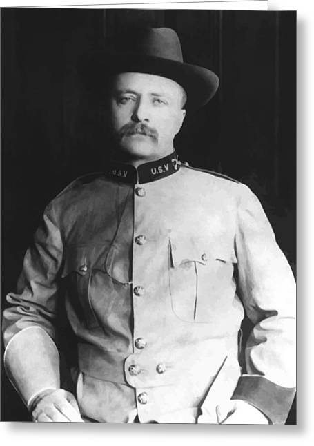 Hills Greeting Cards - Colonel Theodore Roosevelt Greeting Card by War Is Hell Store
