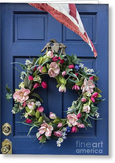 Colonial Door Greeting Card by John Greim