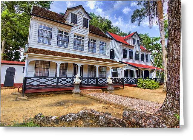 Historic Home Greeting Cards - Colonial Homes Greeting Card by Nadia Sanowar