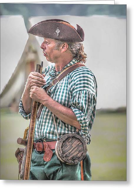 Colonial Militia Call To Arms Greeting Card by Randy Steele