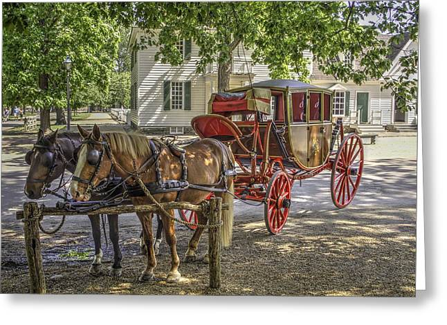 New England Village Greeting Cards - Colonial Williamsburg  v1 Greeting Card by John Straton
