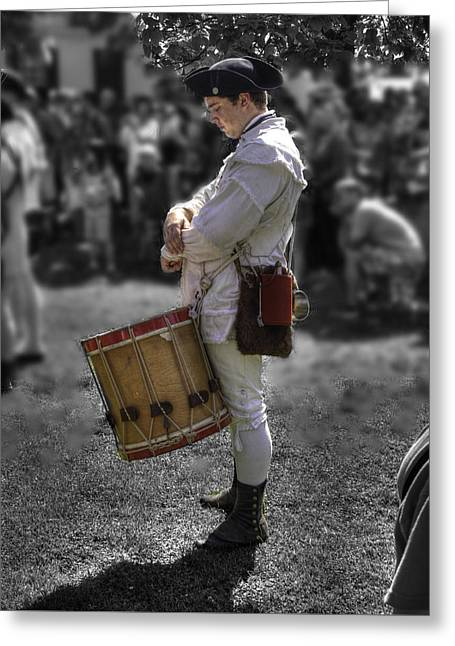 Colonial Actors Greeting Cards - Colonial Williamsburg  v14 Greeting Card by John Straton