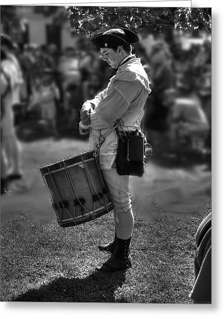 Colonial Actors Greeting Cards - Colonial Williamsburg  v14b Greeting Card by John Straton