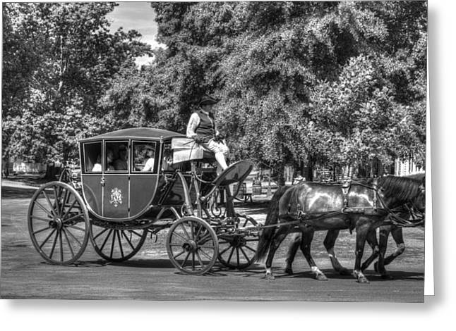Colonial Actors Greeting Cards - Colonial Williamsburg V16b Greeting Card by John Straton