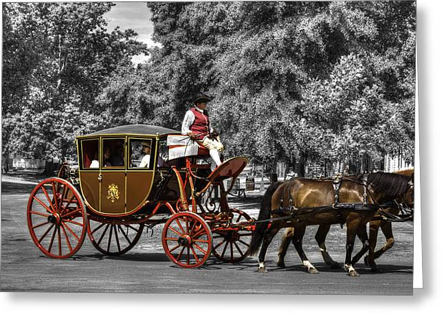 Historic Architecture Greeting Cards - Colonial Williamsburg  v16s Greeting Card by John Straton