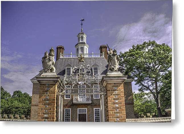 New England Village Greeting Cards - Colonial Williamsburg  v2 Greeting Card by John Straton