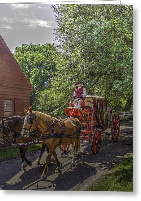 New England Village Greeting Cards - Colonial Williamsburg  v4 Greeting Card by John Straton