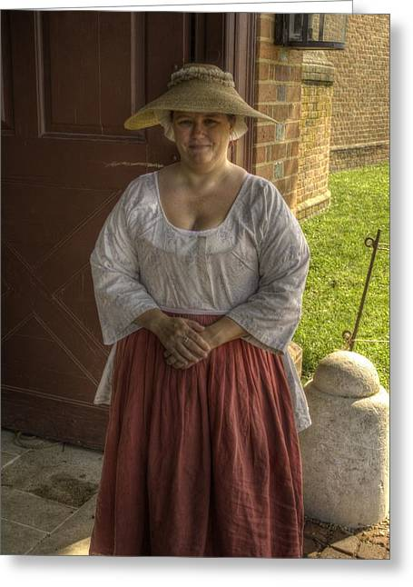 Colonial Actors Greeting Cards - Colonial Williamsburg  v7 Greeting Card by John Straton
