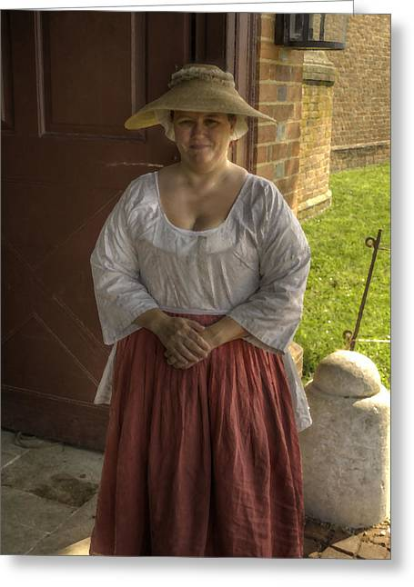 Colonial Actors Greeting Cards - Colonial Williamsburg  v7p Greeting Card by John Straton