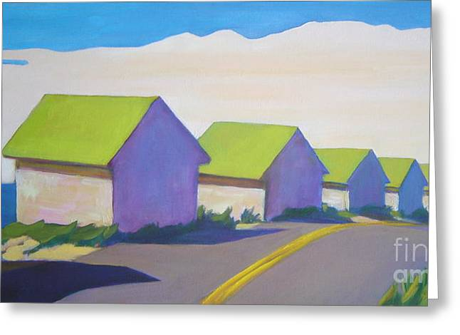 Cape Cod Mass Paintings Greeting Cards - Colonized Greeting Card by Patricia A Griffin