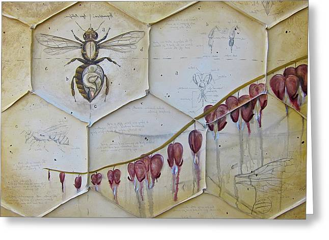 Colony Collapse Disorder Greeting Card by Kristin Llamas
