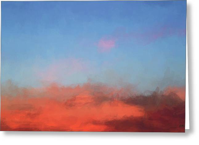 Color Abstraction Xlvii - Sunset Greeting Card by David Gordon