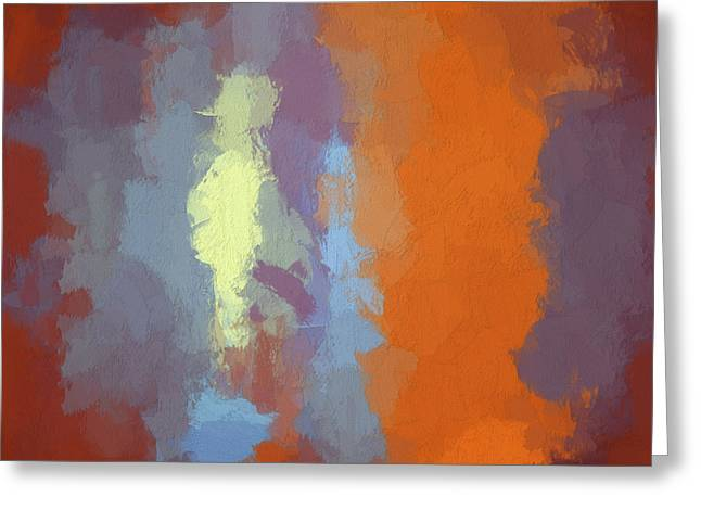 Chromatic Digital Greeting Cards - Color Abstraction XXIII SQ Greeting Card by David Gordon