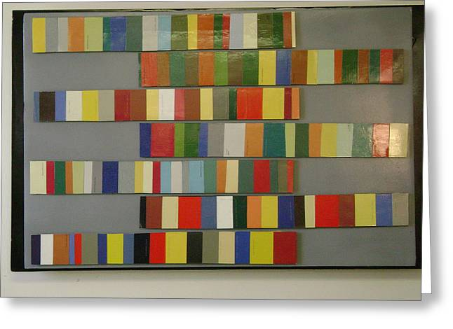 Abstract Reliefs Greeting Cards - Color Bars Greeting Card by Paul Meinerth