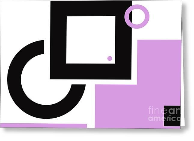 Award Mixed Media Greeting Cards - Color Blocking Geometric Art Print  Greeting Card by ArtyZen Studios - ArtyZen Home