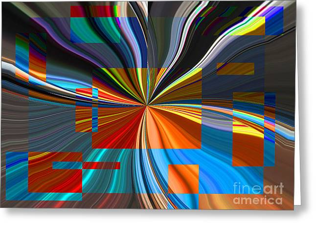 Division Greeting Cards - Color Blocks Rule Greeting Card by Ann Johndro-Collins