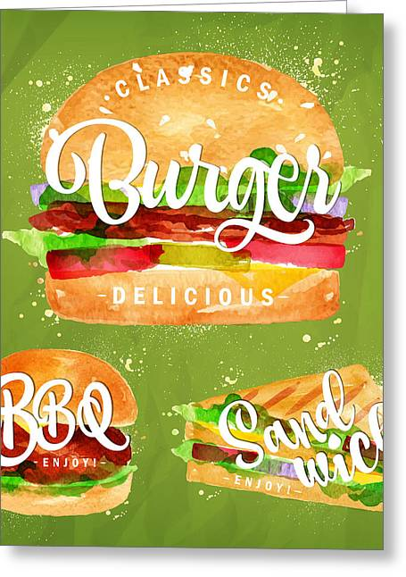 Color Burger Greeting Card by Aloke Design
