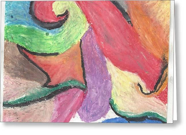 Burst Pastels Greeting Cards - Color Burst Greeting Card by Myah Shostek