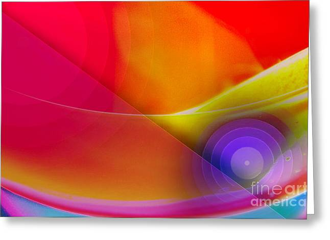 Digitally Created Greeting Cards - Color Burst Rainbow Abstract Greeting Card by Andee Design