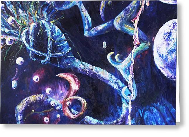 Color Creation Myth Greeting Card by Shelley Irish