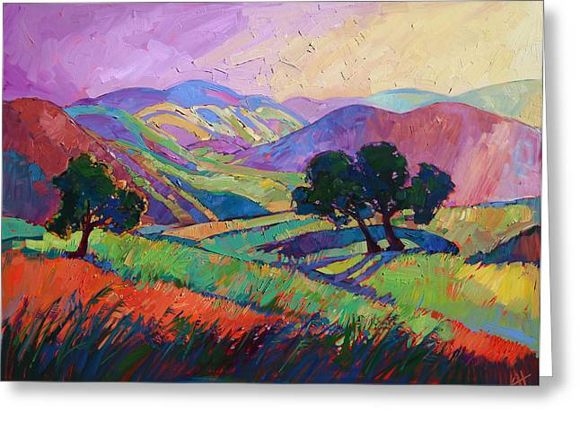 Erin Greeting Cards - Color Drift III Greeting Card by Erin Hanson