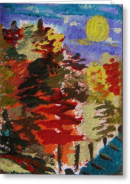 Mcw Greeting Cards - Color Forest Greeting Card by Mary Carol Williams
