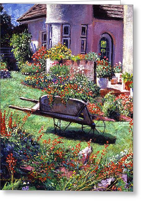 Flowerpots Greeting Cards - Color Garden Impression Greeting Card by David Lloyd Glover