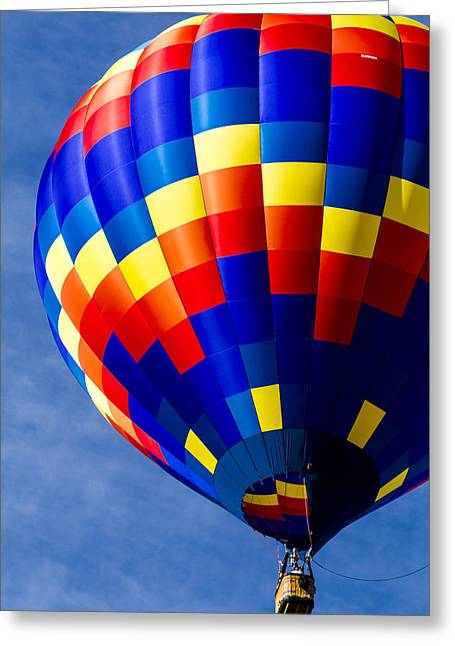 Labor Day Greeting Cards - Color High in the Sky Greeting Card by Teri Virbickis