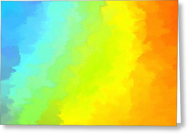 Abstract Digital Photographs Greeting Cards - Color Me Happy Greeting Card by Krissy Katsimbras