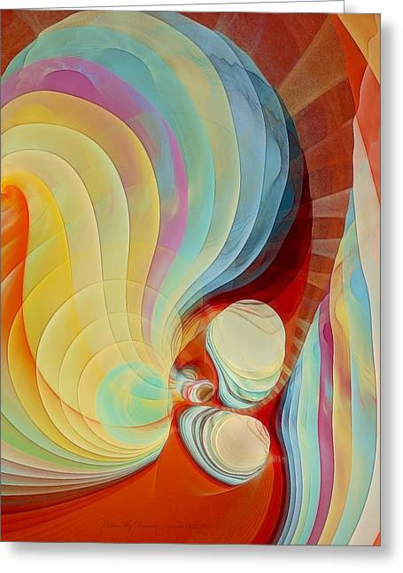 Apophysis Pastels Greeting Cards - Color my Dreams Greeting Card by Gayle Odsather