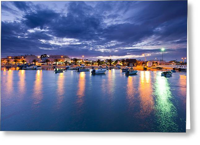 Noche Greeting Cards - Color night Greeting Card by Mauricio Reis