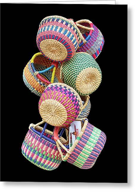 Color Of Baskets Greeting Card by John Haldane