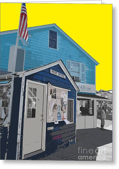 Gay Bar Paintings Greeting Cards - Color of Cherry Grove Greeting Card by Jost Houk