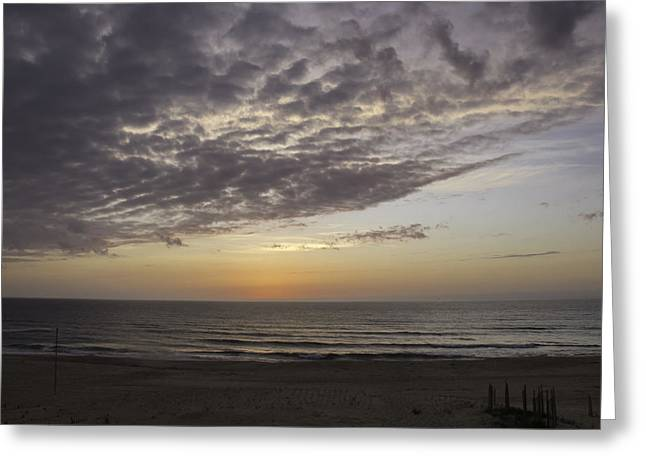 Sand Fences Greeting Cards - Color on the Horizon Greeting Card by Teresa Mucha