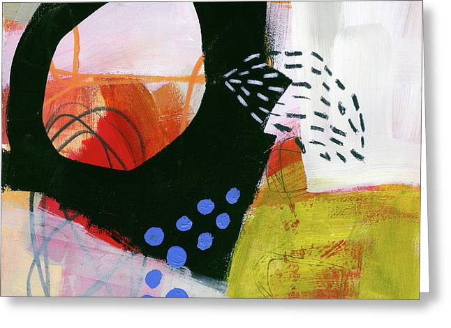 Color, Pattern, Line #3 Greeting Card by Jane Davies