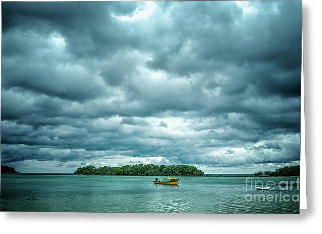 Color Play Before Storm Greeting Card by Michelle Meenawong